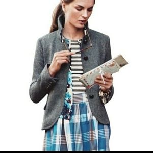 JCREW BELLA GRAY HERRINGBONE JACKET 12